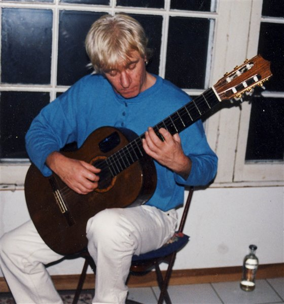 Playing my Michael Gee classical guitar in Toronto. I bought this guitar in Nottingham, England in 1981.