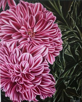 Dahlia -- Oil on linen -- 20 x 16 inches
