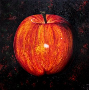 Apple -- Oil on canvas -- 30 x 30 inches