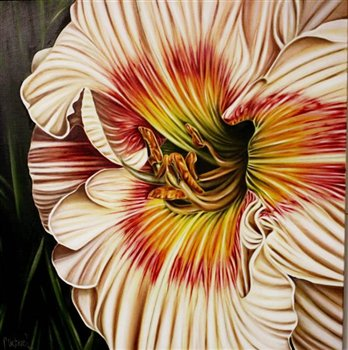 Day Lily -- Oil on canvas -- 40 x 40 inches