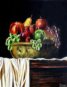 Bowl of Fruit -- Oil on canvas -- 30 x 22 inches