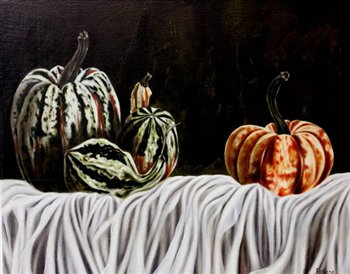 Gourds -- Oil on wood panel -- 20 x 16 inches